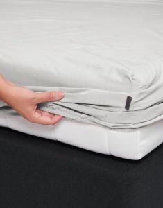 ESSENZA Premium Percale Silver Spannbettlaken 180 x 200 cm