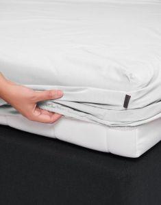 ESSENZA Premium Percale Weiß Spannbettlaken 90 x 220 cm