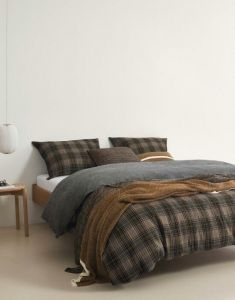 Marc O'Polo Rivar Warm Pecan Plaid 130 x 170 cm