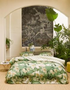ESSENZA Rosalee Basilikumgrün Bettwäsche 155 x 220 cm