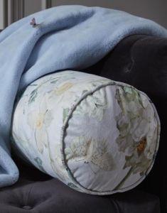 ESSENZA Rosalee Grau Nackenrolle 22 x 50 cm