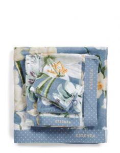 ESSENZA Rosalee Blau Waschhandschuhe 16 x 22 cm