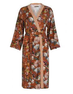 ESSENZA Sarai Filou Leather Brown Kimono XL