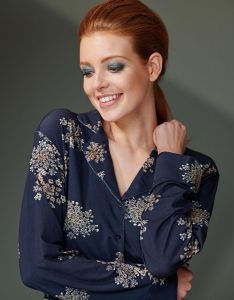 ESSENZA Senna Lauren Indigo Blue Pyjama M