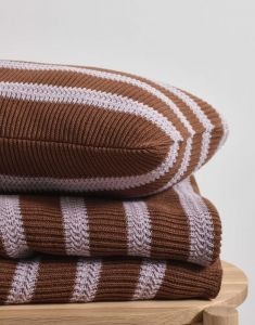 Marc O'Polo Structure knit Toffee Brown Tagesdecke 130 x 170 cm
