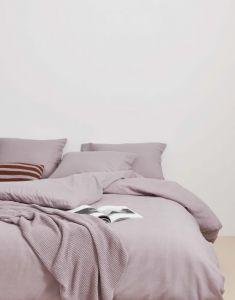 Marc O'Polo Summer Pique Lavender Mist Kissenbezug 80 x 80 cm