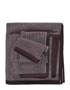 Marc O'Polo Timeless Tone Stripe Aubergine / Lavender Mist Gästetuch 30 x 50 cm
