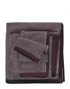 Marc O'Polo Timeless Tone Stripe Aubergine / Lavender Mist Handtuch 70 x 140 cm