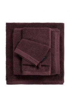 Marc O'Polo Timeless Uni Aubergine Waschhandschuhe 16 x 22 cm