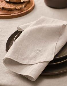 Marc O'Polo Valka Oatmeal Serviette 45 x 45 cm