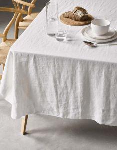 Marc O'Polo Valka Weiß Tischdecke 150 x 250 cm