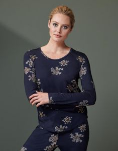 ESSENZA Waona Lauren Indigo Blue Top Langarm L