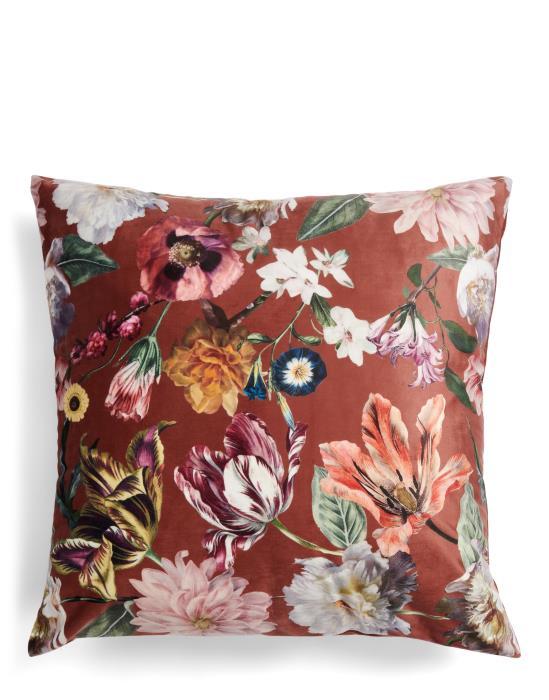 ESSENZA Filou Blumen Pfingstrosen Tulpen Dekokissen  50x50   Heimtextilien > Decken und Kissen > Kissen   ESSENZA