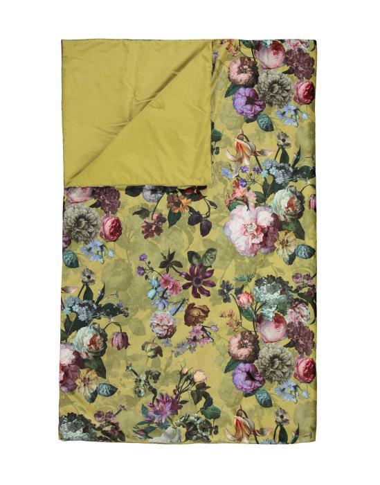 ESSENZA Fleur Quilt Golden yellow 270x265 | Heimtextilien > Hussen und Überwürfe | ESSENZA