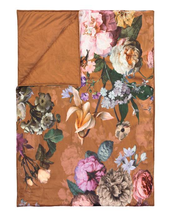 ESSENZA Fleur Quilt Leather Braun 220x265 cm | Heimtextilien > Hussen und Überwürfe | ESSENZA