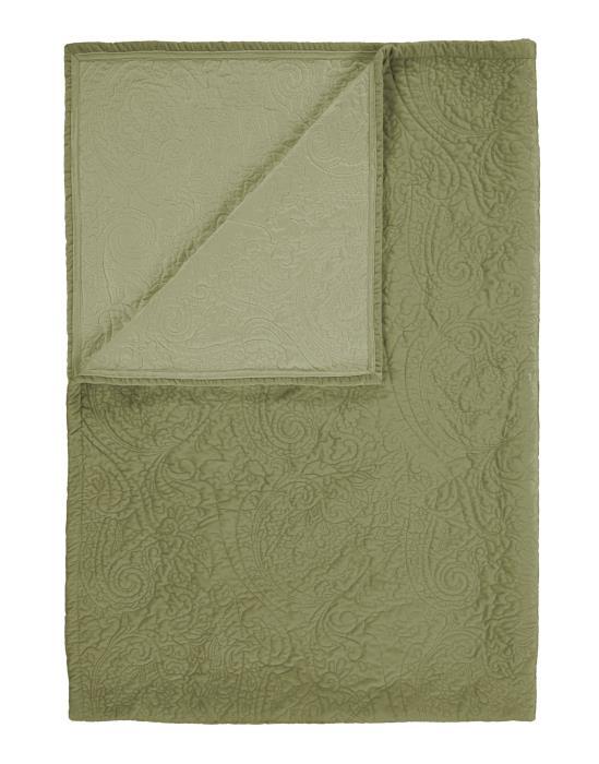 ESSENZA Roeby Quilt Moos 220x265 cm | Heimtextilien > Hussen und Überwürfe | ESSENZA
