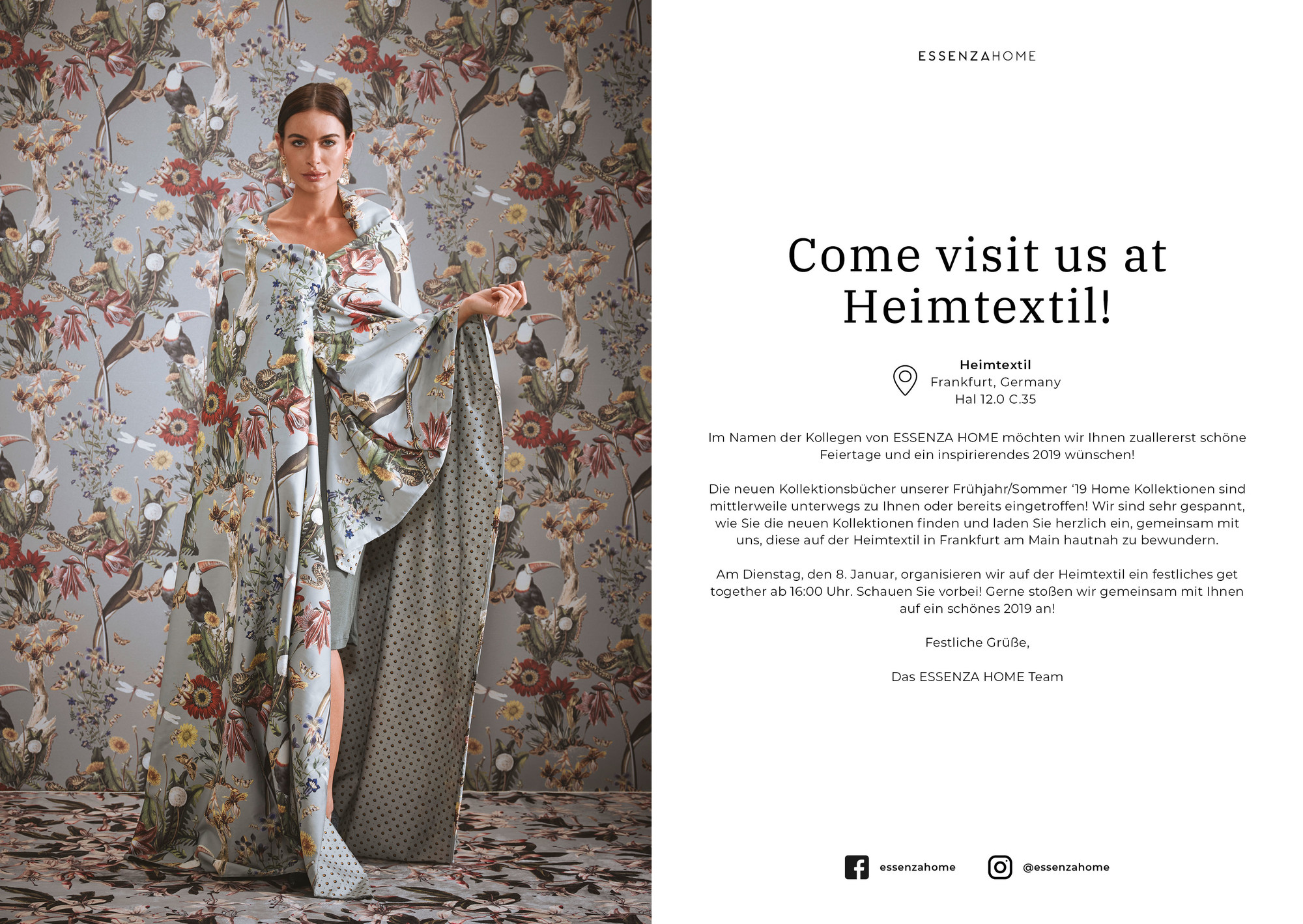 Come visit us at Heimtextil