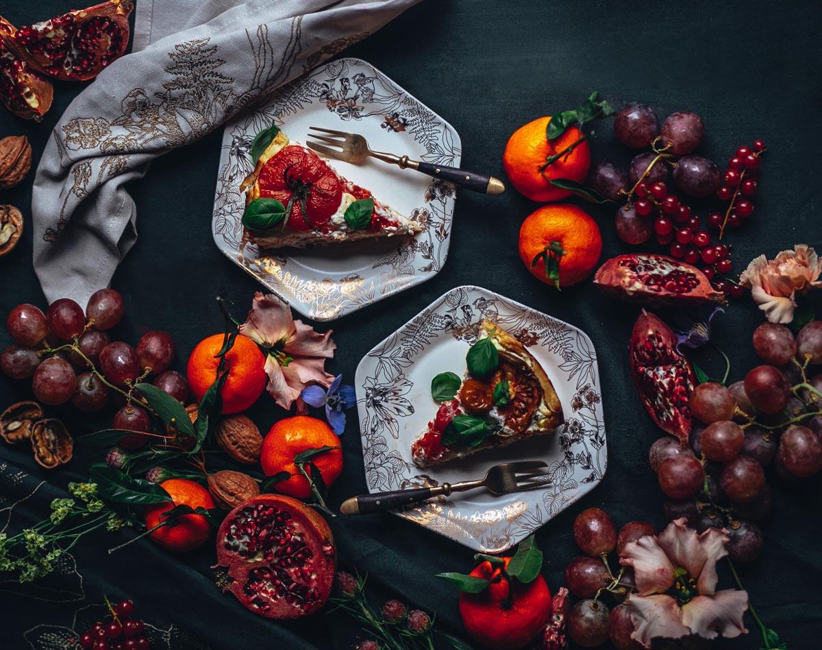 Rezept: Tomaten-Quiche mit Ricotta & Gruyère