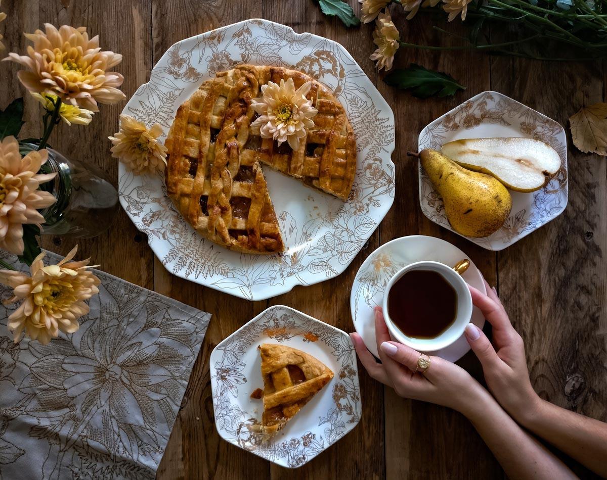 Rezept: Herbstliche Birnentarte