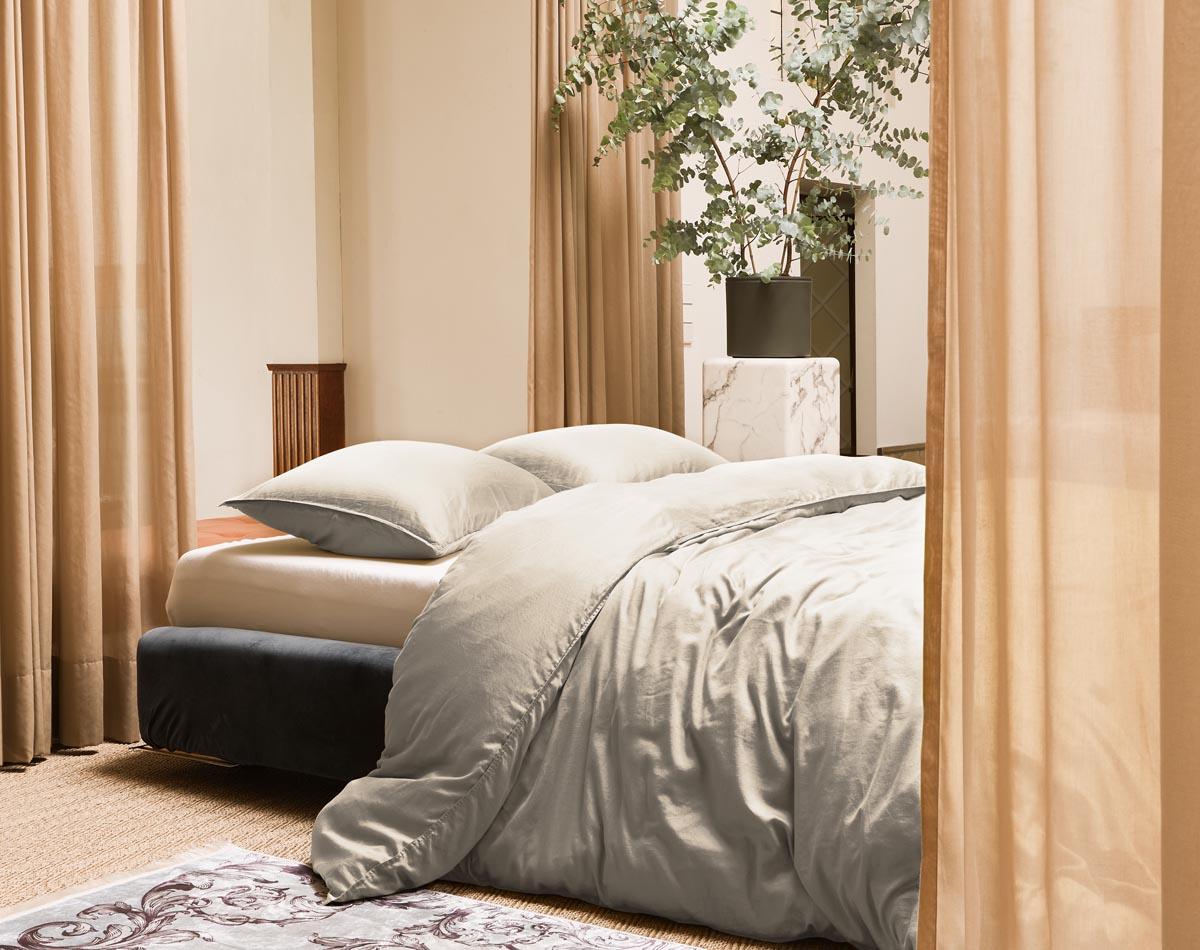 Unifarbene Bettwäsche: Basics zum Verlieben
