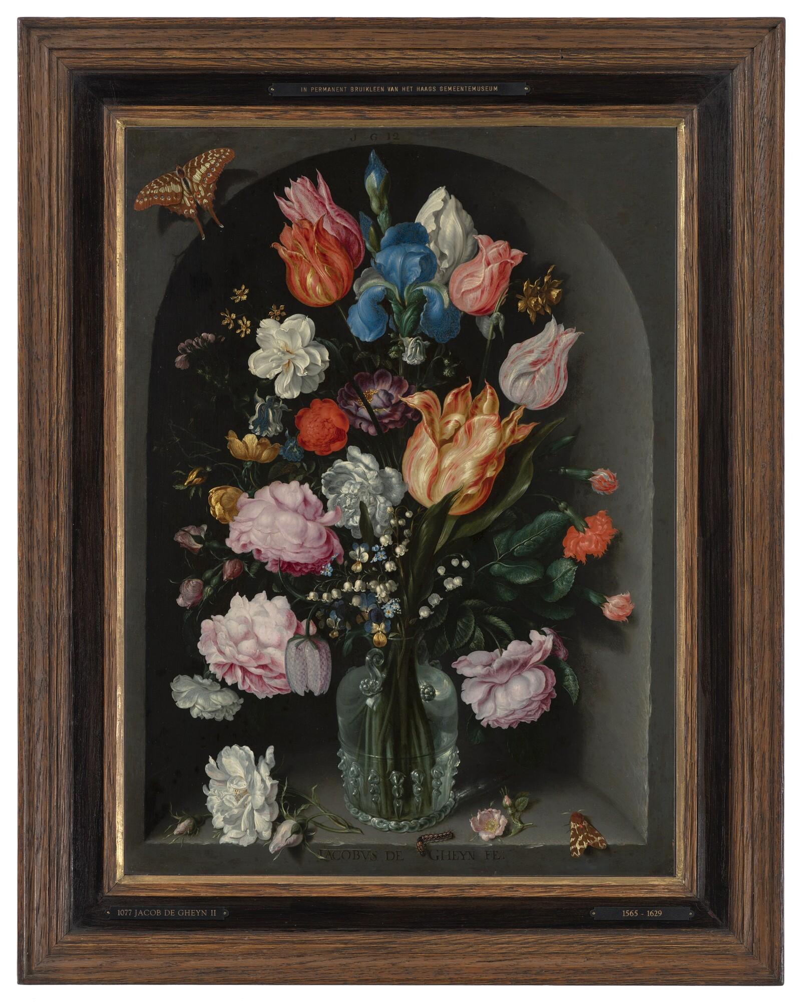 Blumen in einer Glasflasche - Jacob de Gheyn II, 1565 - 1629