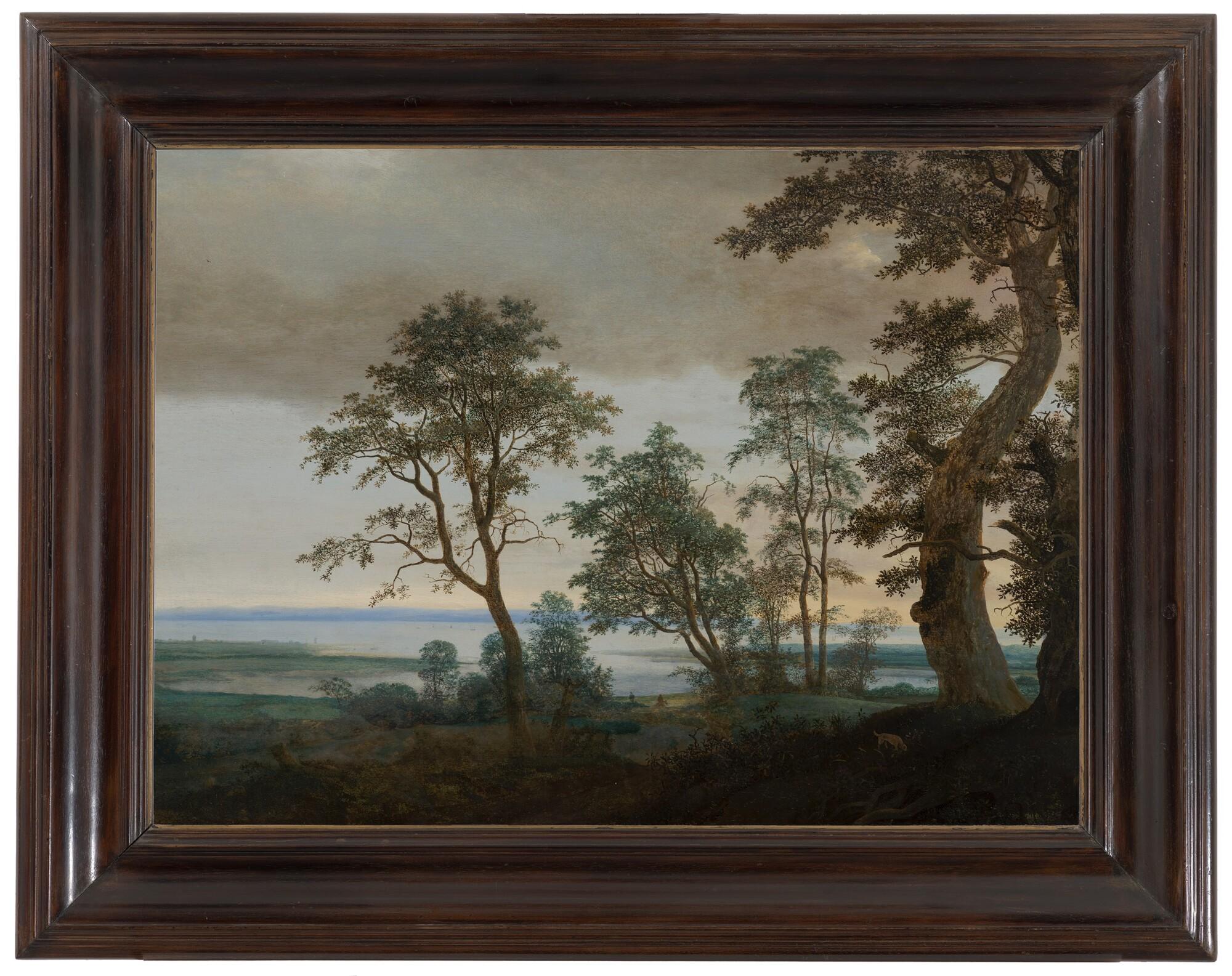 Flusslandschaft mit Bäumen - Cornelis Vroom, um 1638