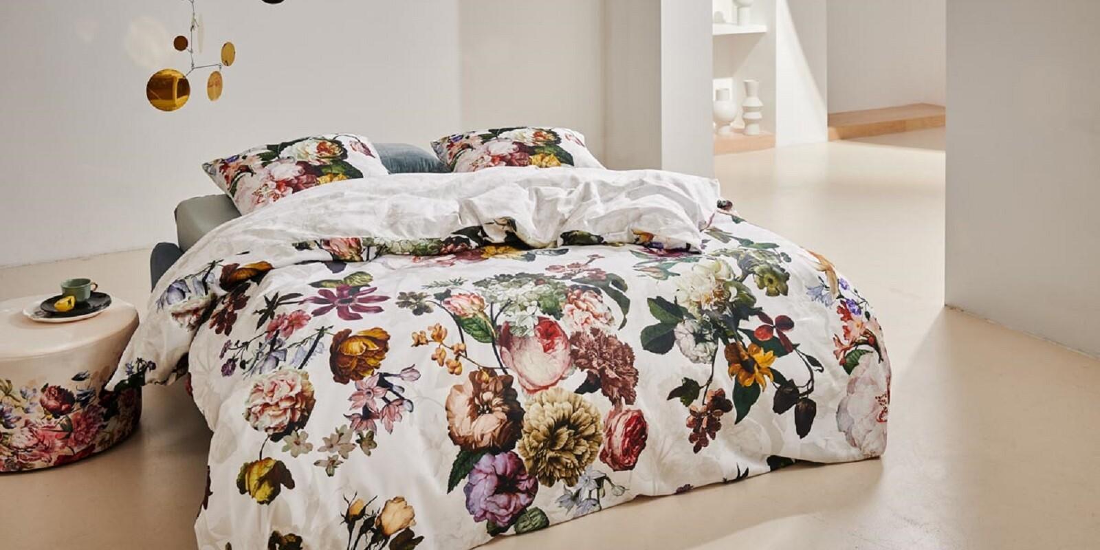 ESSENZA Fleur Weiß Bettwäsche 135 x 200 cm