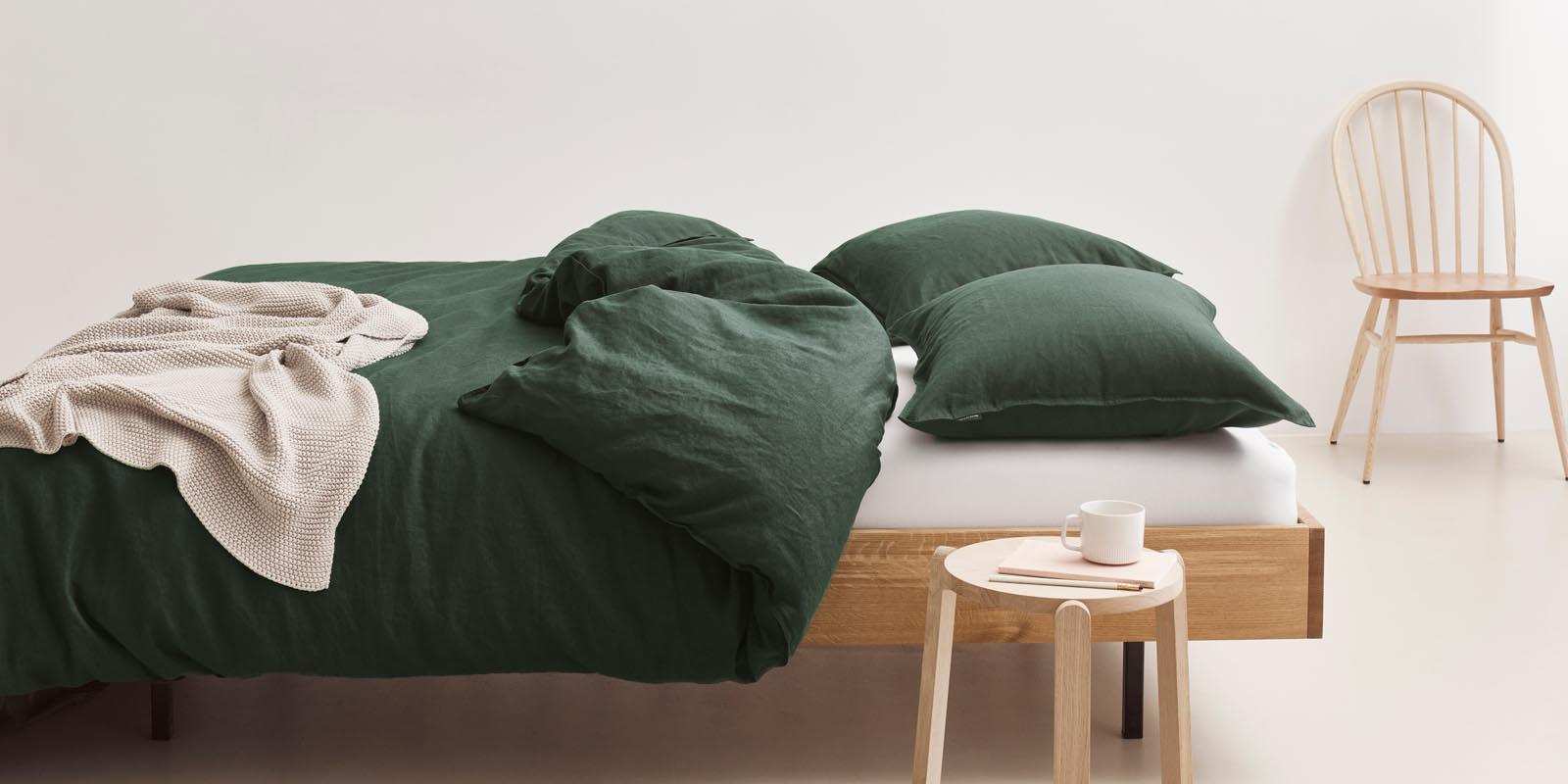 Marc O'Polo Valka Deep Green Bettwäsche 135 x 200 cm