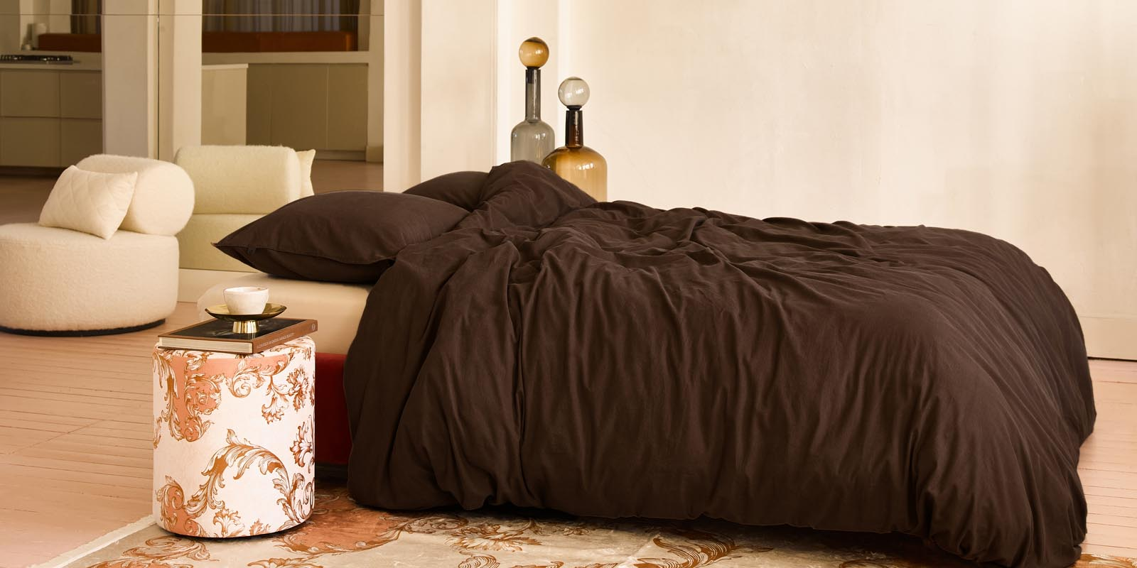 ESSENZA Guy Chocolate Bettwäsche 135 x 200 cm