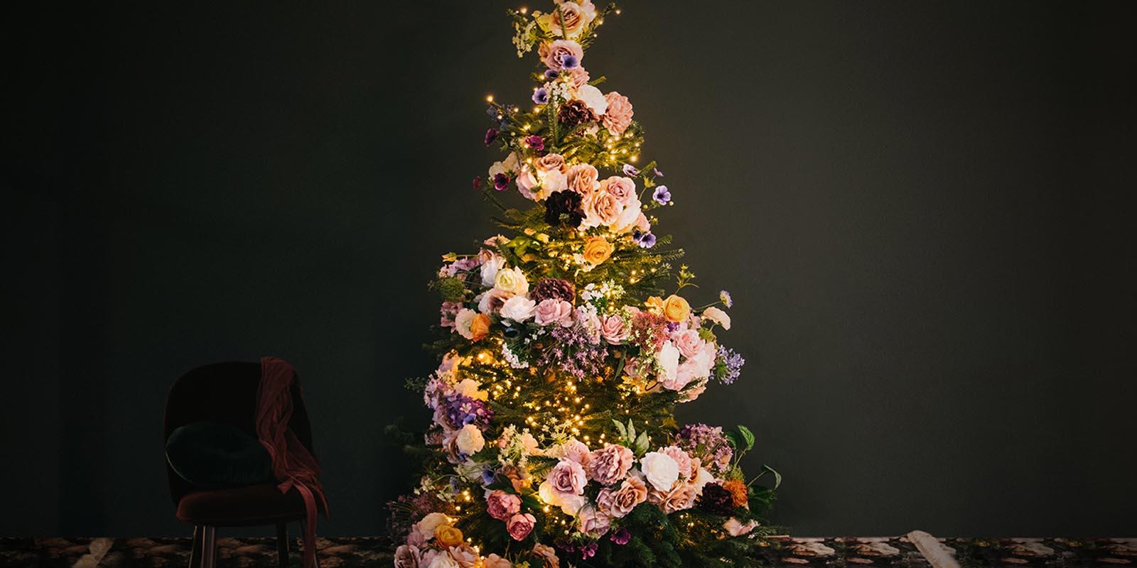 DIY Blumenweihnachtsbaum