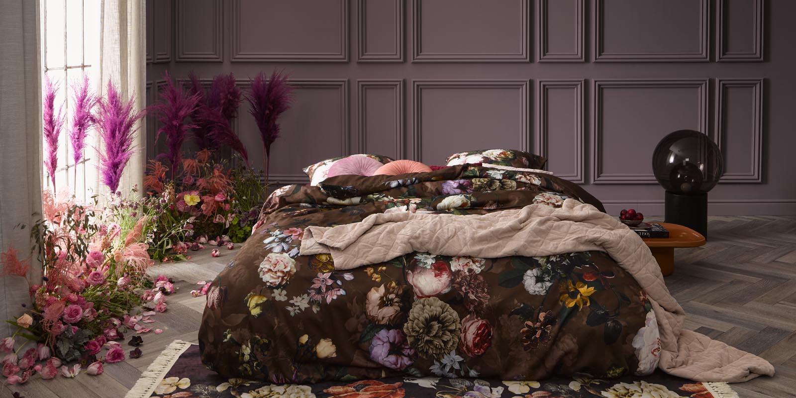 ESSENZA Fleur Chocolate Bettwäsche 135 x 200 cm